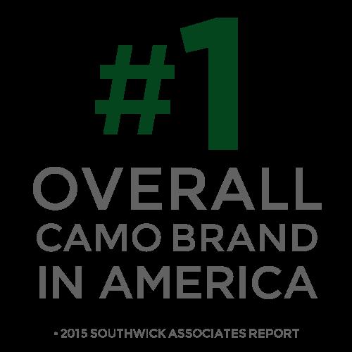 #1 Overall camo brand in America.